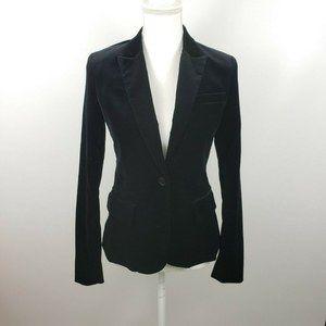 Theory sz 4 velvet blazer jacket button up work